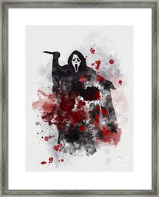 Ghostface Framed Print by Rebecca Jenkins