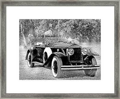 Ghostly '29 Phantom Rolls Framed Print by Jorge Gaete