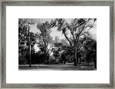 Ghostly Bok Tower Framed Print by David Lee Thompson