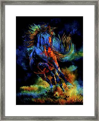 Ghostly Encounter Framed Print