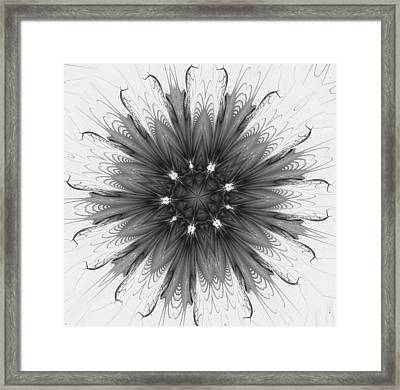 Ghostly Glow Fractal Framed Print