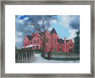 Ghostly Nun Of Borley Rectory Framed Print