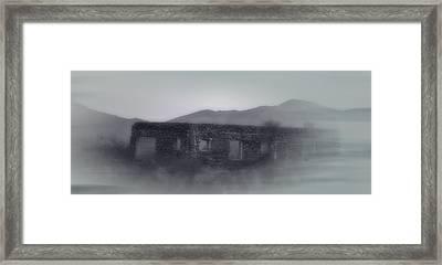 Ghostly Old Western Mirage Framed Print