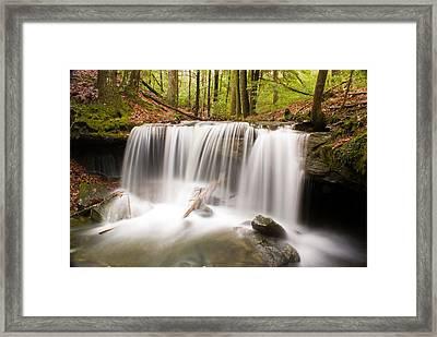 Ghostly Waterfall Framed Print by Douglas Barnett