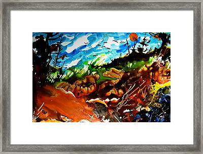Ghosts And Goblins Whoooo Framed Print by Wilfred McOstrich