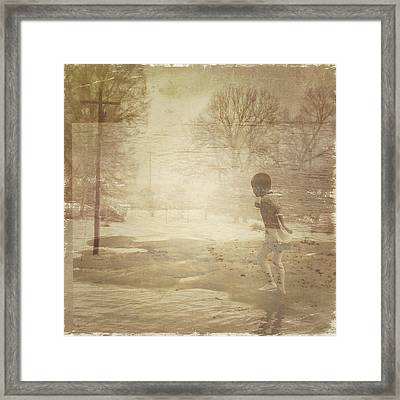 Ghosts And Shadows Vi - Mistaken Framed Print