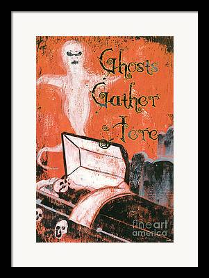 Ghost Haunting Framed Prints