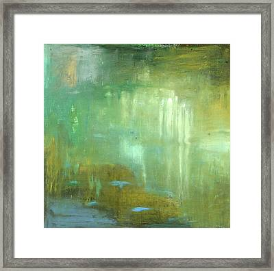 Framed Print featuring the painting Ghosts In The Water by Michal Mitak Mahgerefteh