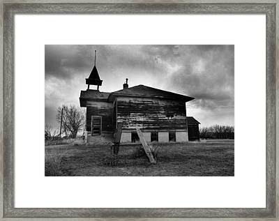Ghosts Of Laughter In Corinth North Dakota Framed Print by Jeff Swan