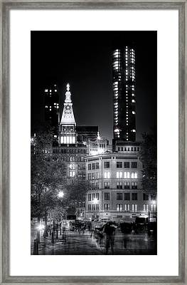 Ghosts Of Union Square Framed Print
