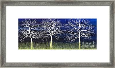 Ghosts Whispering In The Field Framed Print