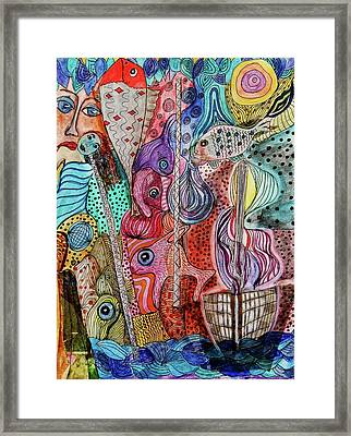 Framed Print featuring the mixed media Ghostship by Mimulux patricia no No