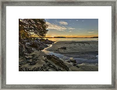 Ghostship Sunset Framed Print by Mark Kiver