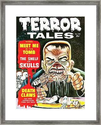 Ghoul Eats Corncob Ribs Horror Comic Restored Framed Print