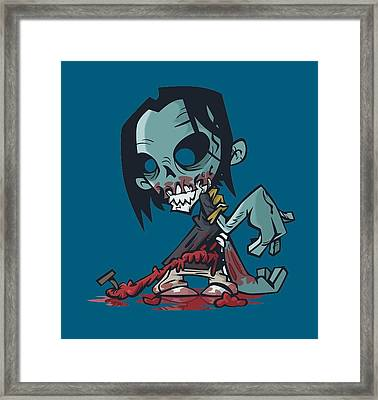 Ghoul T-shirt Framed Print by Herb Strobino
