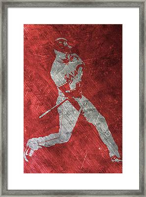 Giancarlo Stanton Miami Marlins Art Framed Print