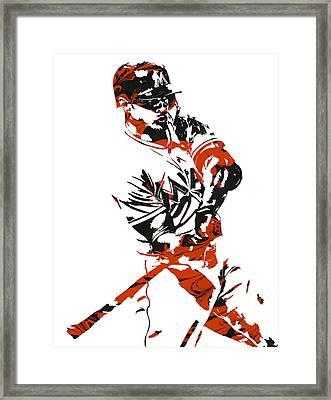 Giancarlo Stanton Miami Marlinspixel Art 1 Framed Print