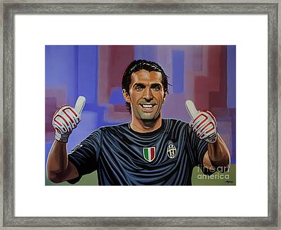 Gianluigi Buffon Painting Framed Print by Paul Meijering