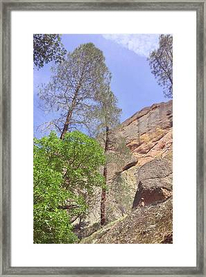 Framed Print featuring the photograph Giant Boulders by Art Block Collections