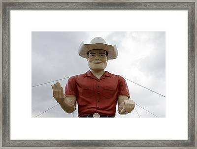 Giant Cowboy Portrait Framed Print by Tony Grider