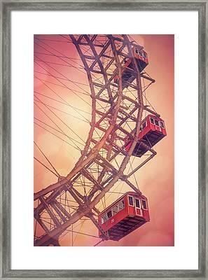 Giant Ferris Wheel Prater Park Vienna  Framed Print