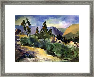 Giant Gap From Iron Point Framed Print