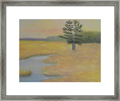 Giant In The Marsh Framed Print