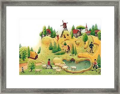 Giant Landscape Framed Print by Kestutis Kasparavicius