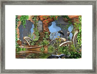 Giant Mushroom Forest Framed Print