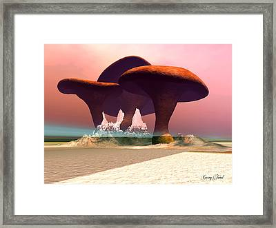 Giant Mushrooms Framed Print by Corey Ford