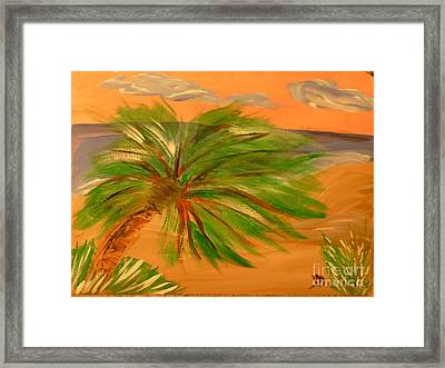 Giant Palm Tree Framed Print by Marie Bulger