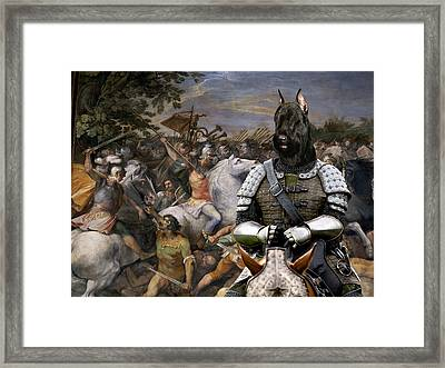 Giant Schnauzer Art Canvas Print - The Brave Riccer  Framed Print by Sandra Sij