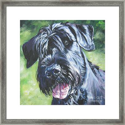 Giant Schnauzer Framed Print by Lee Ann Shepard