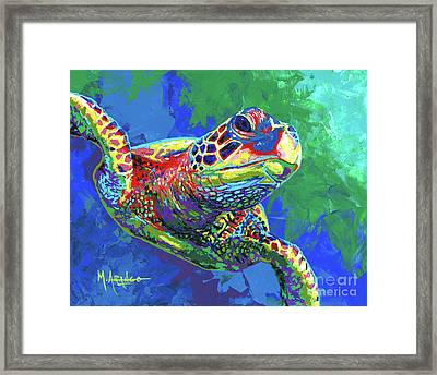 Giant Sea Turtle Framed Print by Maria Arango