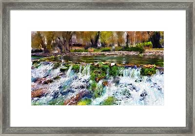 Giant Springs 1 Framed Print by Susan Kinney