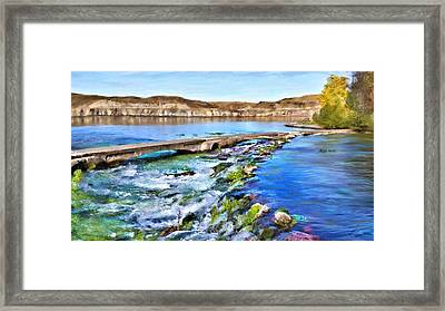 Giant Springs 3 Framed Print by Susan Kinney