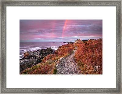 Giant Stairs Rainbow Framed Print by Benjamin Williamson