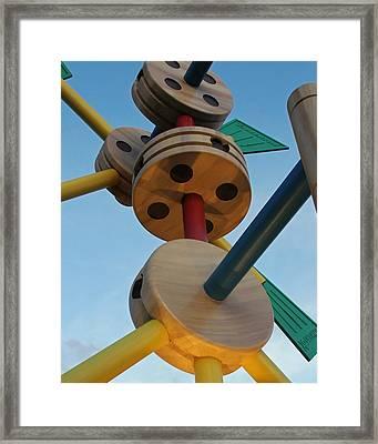 Giant Tinker Toys Framed Print