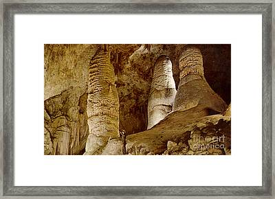 Giant Twin Domes At Carlsbad Caverns  Framed Print by Ruth  Housley
