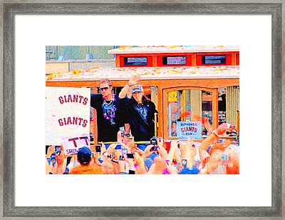 Giants 2010 Champions Parade 2 . Photo Artwork Framed Print by Wingsdomain Art and Photography