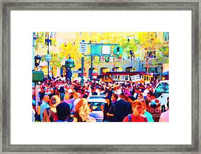 Giants 2010 Champions Parade . Photo Artwork Framed Print by Wingsdomain Art and Photography