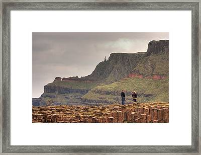 Framed Print featuring the photograph Giants Causeway by Ian Middleton