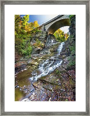 Giant's Staircase Under College Avenue Bridge Framed Print