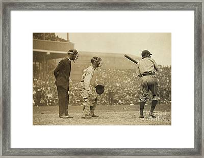 Giants Versus Pirates Framed Print by American School