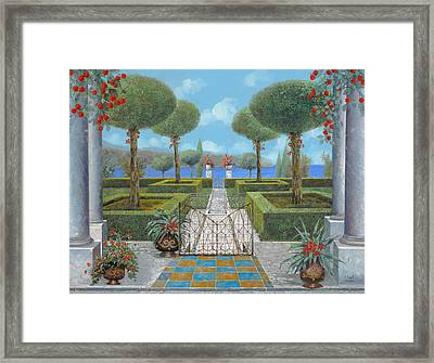 Giardino Italiano Framed Print by Guido Borelli