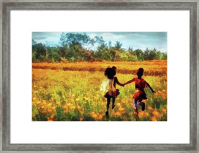 Gia's Field Of Dreams Framed Print