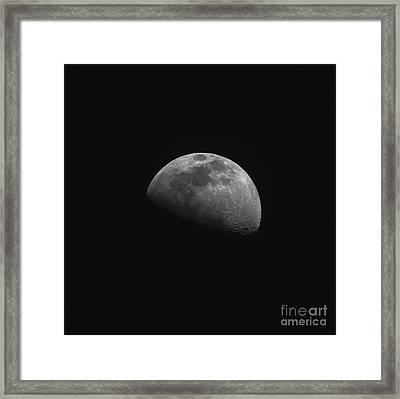 Gibbous Moon Framed Print
