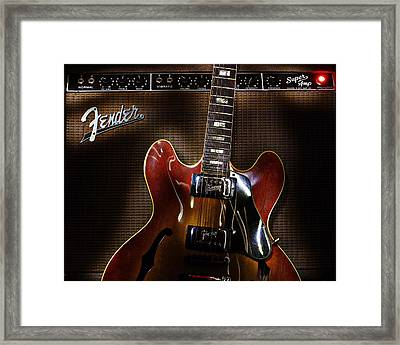 Gibson 335 Framed Print by Jim Mathis