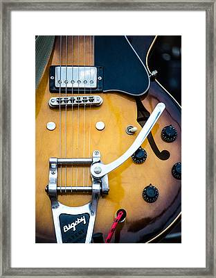 Gibson Electric Guitar Framed Print by Andrea Mazzocchetti