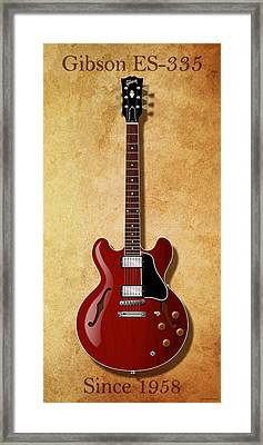 Gibson Es-335 Since 1958 Framed Print